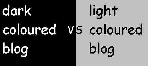 Dark vs light coloured blog Dark vs light background colour blogs