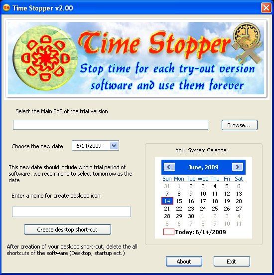 time stopper How to use Time Trial Softwares forever.