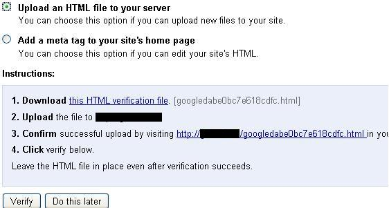 verify ownership google webmaster tools How to add your Wordpress blog in Google Webmaster tools.