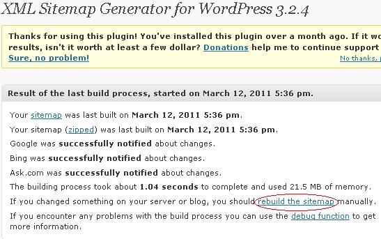 Google XML sitemap Google XML sitemap : Essential wordpress SEO Plugin