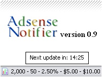 Adsense Notifier Firefox addons to check your Adsense Earnings on the go